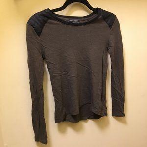 Zara long sleeve shirt in navy green